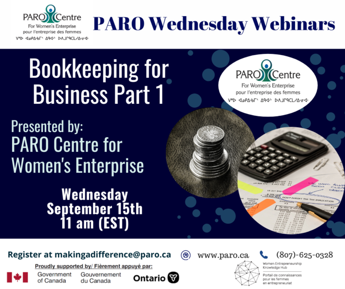 PARO WEDNESDAY – BOOKKEEPING FOR BUSINESS PART 1