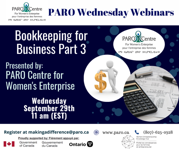 PARO WEDNESDAY – BOOKKEEPING FOR BUSINESS PART III
